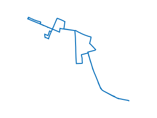 Map showing location of 3: Route 3